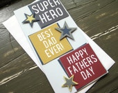 Super Hero. Best Dad Ever! Happy Father's Day - Handmade Father's Day/Birthday Greeting Card
