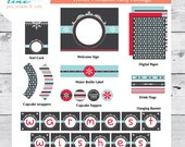 Winter Party Printable Collection - INSTANT DOWNLOAD