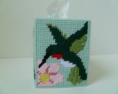 Hummingbird and Flower Tissue Box Cover
