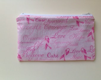 Reusable Snack Bag - Pink Ribbon