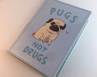Cute Gemma Correll Passport Case - Pugs Not Drugs
