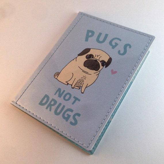 Cute Gemma Correll Passport Case - Pugs Not Drugs