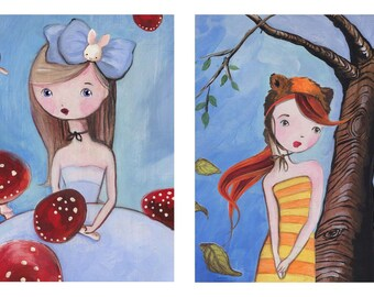 "Wonderland Duo 5""x7"" prints"