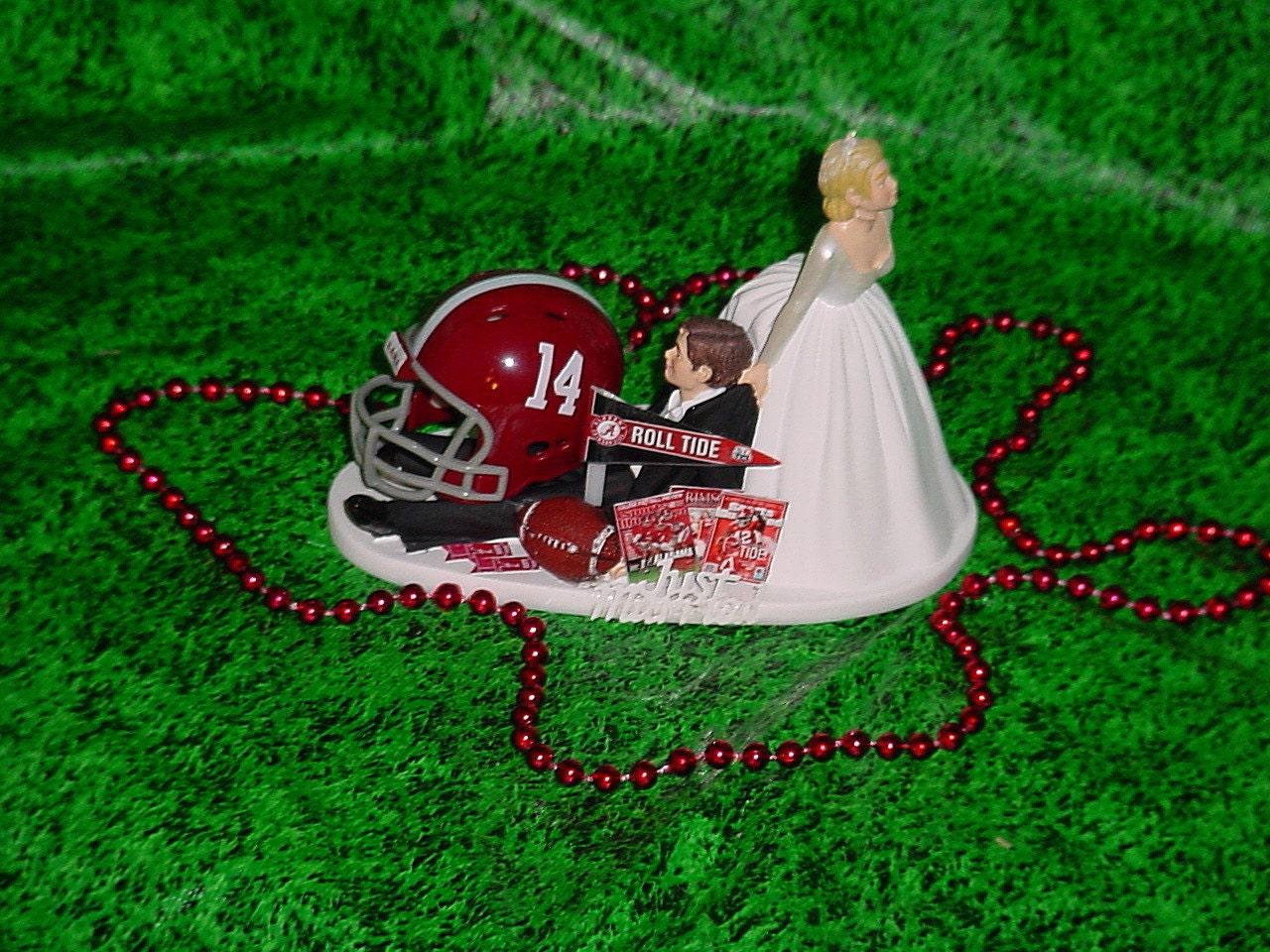 Alabama Elephant Wedding Cake Topper