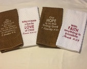 Scripture kitchen towel set