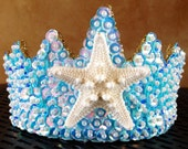 Aqua Mermaid Sequin Princess Tiara
