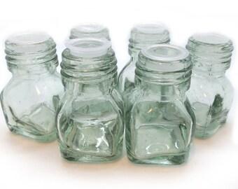 Glass Bottles, 6 pcs,   Sealed Glass Bottles, Small   Bottles
