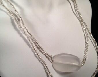 Long, Vintage Necklace, Beaded : N2