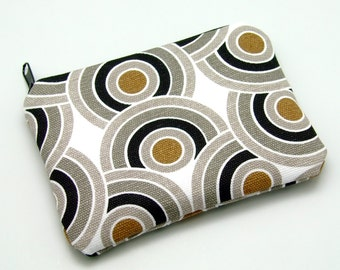 Twisting cirlces - Zipper pouch / coin purse (padded) (ZS-88)