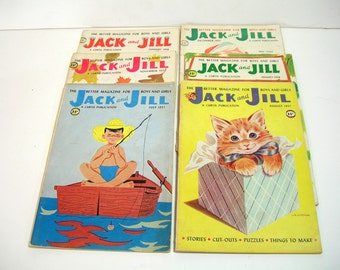 Jack And Jill 1957 And 1958 Children's Magazine Collection