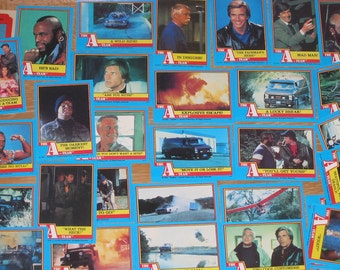 SALE 1983 A-Team 40 Topps trading cards Blue series plus 1 Sticker