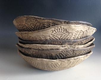 Pasta Bowls Ceramic  plates handmade Cappuccino ceramic plates -set of 4- Wedding gifts Tableware Pasta BOWLS dinnerware dinner plates