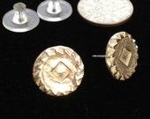 Steampunk Clock Wheel Industrial Fine Silver Post Earrings