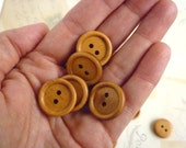Wooden Buttons Round Three Quarter Inch - Coffee coloured - Pack of 20