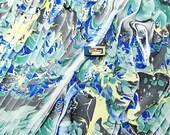 marbled canvas, Hand marmoriert Leinwand, toile marbrè , tela màrmolada, tela  marmorizzata - 21,6