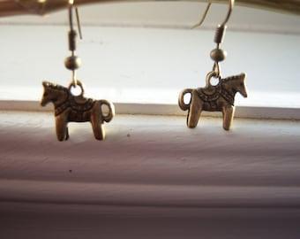 Dala Horse Earring  - Swedish Horse - Horse Earrings