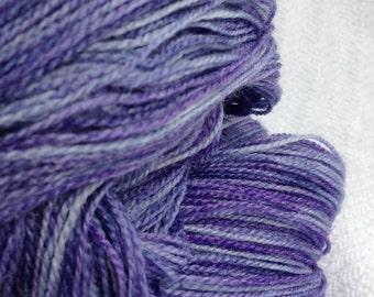Ghost Ship hand dyed LACE yarn Violet Purple superwash merino bamboo blend 875 yards