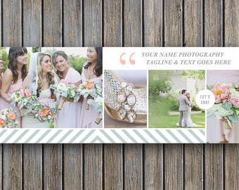 Vintage Facebook Cover Template - Digital Photography Templates - Blog Header Design - Design By Bittersweet - Photography Templates