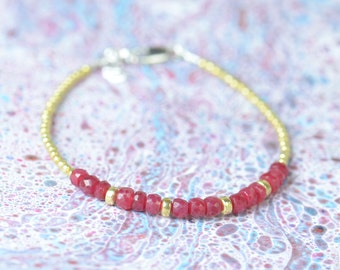 Ruby and gold vermeil  bracelet