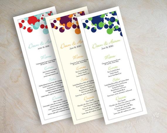 Wedding Menu Cards Printable Wedding Menus Diy Wedding