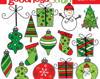 Buy 2, Get 1 FREE - Very Merry Christmas Clipart - Digital Christmas Clipart - Instant Download