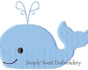 Whale Machine Embroidery Mini Design