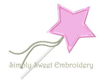 Princess Wand Machine Embroider Applique Design
