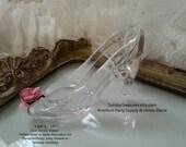 12 Cinderella Clear Slipper Shoe / Party Favor / Table Decoration / Disney Birthday Wedding Bridal Baby Shower Girls Dress Up / Cake Topper