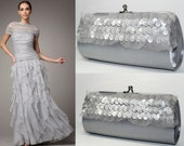Silver Sequin Wedding - New Years Eve Clutch - Silver Clutch - Silver Sequin Bridesmaid Clutches - Bridesmaid Clutch - Formal Purse