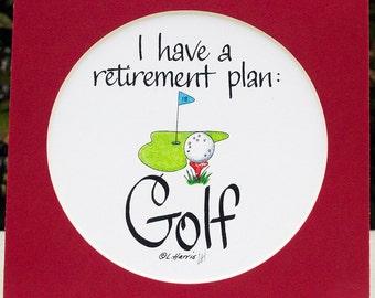 Golf as a Retirement Plan
