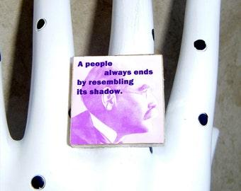 Rudyard Kipling ring earrings pendant brooch cuff links