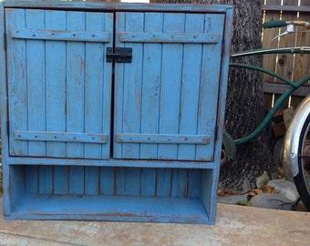 Wooden Shelf - Bath - Kitchen - Wood Furniture - Wall Shelving - Wall Hanging - Bathroom - Spice Cabinet - Organizer - 24 x 24 x 5.5 deep