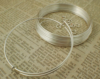 4 Bangle Bases Kit- Snag-less Premium Silver Plate in Your Choice of Gauge - 12, 14, 16