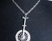 Vintage Silvertone Unicycle Pendant