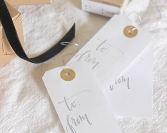 Calligraphy To and From Stamp
