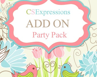 Add a Matching Party Pack To Any Invitation Order
