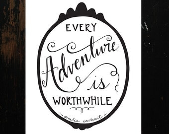 Every Adventure Amelia Earhart Hand-Lettering Printable