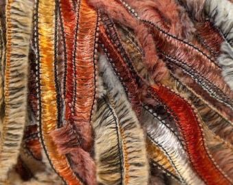 Nordic Wool Ice Brown Copper Orange White Gold Wool Blend Yarn 50gr 60Y 24335