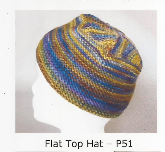 Knitting Pattern Top Hat : Items similar to Flat Top Hat Artyarns Knitting Pattern P51 Iris Schreier on ...