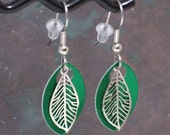 Miniature Leaf Feather Earrings