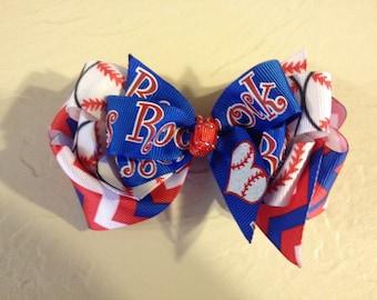 Rangers Baseball Boutique Hair Bow