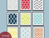 Modern Patterns (Series B) - Set of 9 - Art Prints - Featured in Assorted Colors