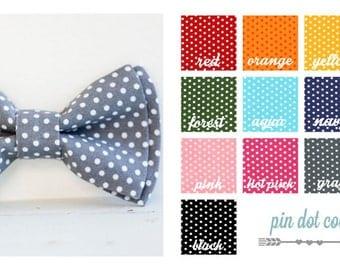 Bow Tie, Mens Bow Tie, Bowtie, Bowties, Bow Ties, Bowties, Mint Bow Tie, Groomsmen Bow Ties, Wedding Bow Ties, Ties - Pin Dot Collection