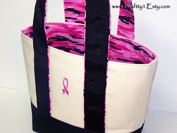 Small Tote - Pink Camouflage (Fatigue) (Black)