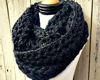 Charcoal Super Bulky Infinity Scarf