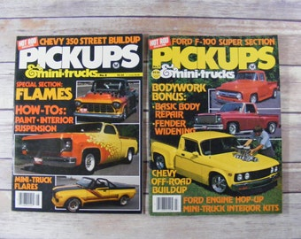 Hot Rod Magazine Pickup & Mini Trucks 1980 lot of 2 magazines