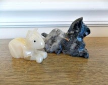 Marble Stone Cats, Small, Cats, Figurines, Home Decor, Collectible, Souvenir, Marble, Stone, Carved Stone,