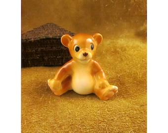 Ceramic Small Happy Sitting Bear – Vintage Japan Ceramic Collectible
