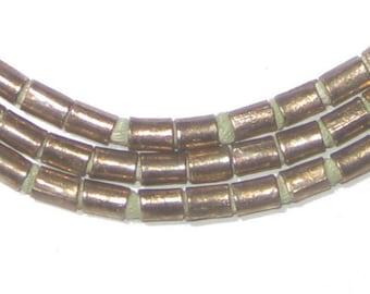 100 Silver Tube Beads - 5x3mm Ethiopian Beads - African Beads - African Metal Beads -Ethiopian Beads - Made in Ethiopia (MET-TUB-SLV-269)