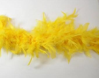2 yards Turkey Boa- Canary Yellow, 50g